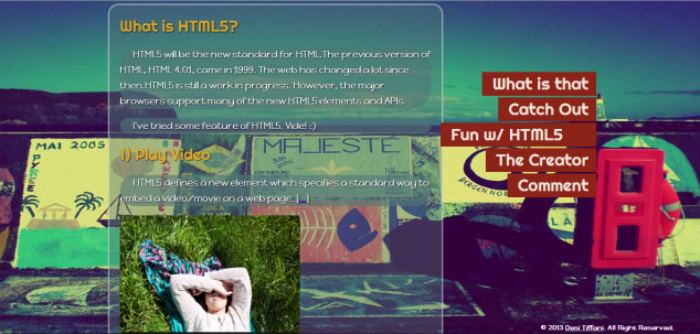 Fun with HTML5 Page